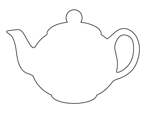 teapot template teapot free colouring pages