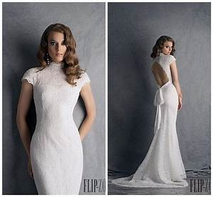 2015 flip zone short sleeve wedding dress high neck With short sleeved wedding dresses