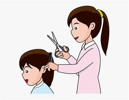 Clipart Haircut Hair Clip Cut Cutting Transparent