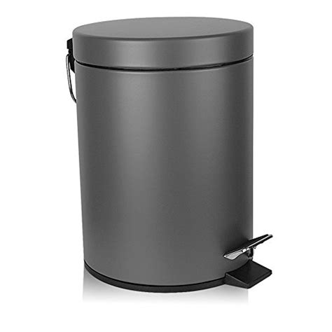 small bathroom wastebasket with lid fortune small step trash can with soft