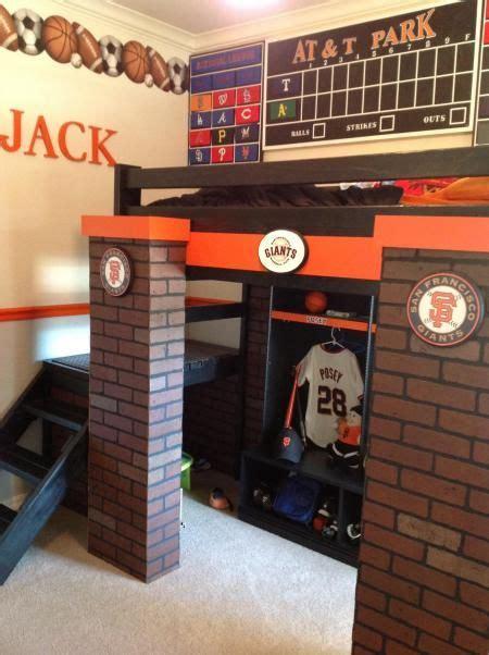 baseball lockerscoreboard loft bed park bed
