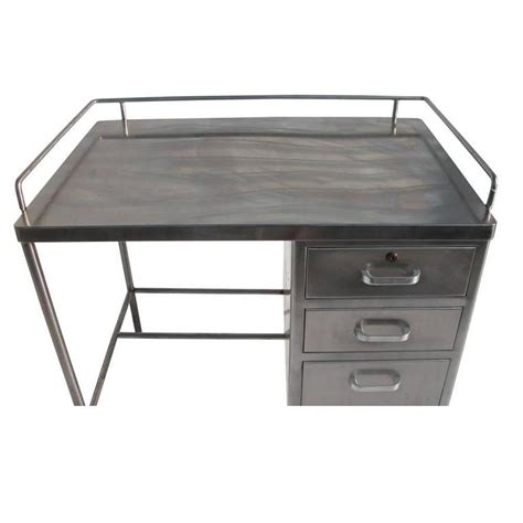 touch desk l stainless steel vintage industrial stainless steel desk at 1stdibs