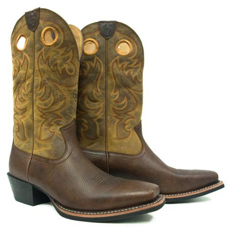 ariat international alcalas western wear mens brown