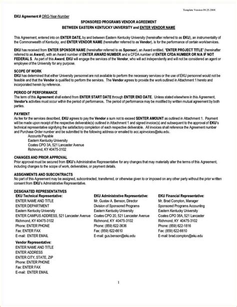 contract template for wufoo vendor contract agreement template sletemplatess
