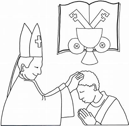 Holy Orders Coloring Sacrament Pages Catholic Bosco
