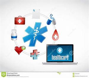 Healthcare Access Diagram Icons Stock Illustration