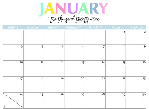 printable january  calendar   holidays sheet