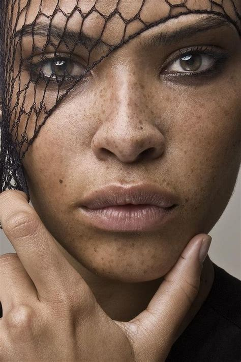 Ashlee Desire Beautiful Freckled Female Face African