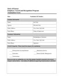 Employee Recognition Nomination Form Template