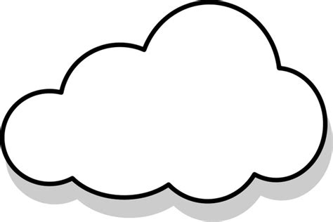 Cloud Template With Lines by Nuage Cloud Free Vector In Open Office Drawing Svg
