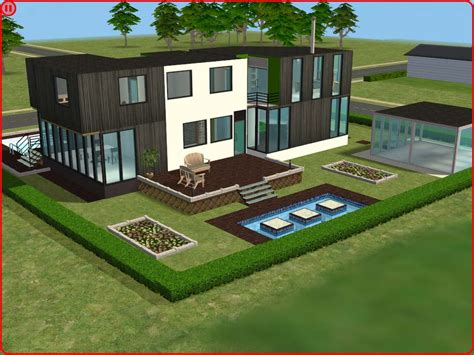 Mod The Sims  Ultra Modern House
