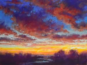 alejandra gos sunset sky pastel painting lessons