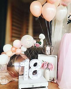 Blush Pink And Rose Gold 18th Birthday Party Balloon