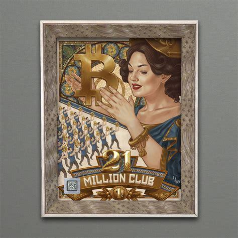 How many bitcoins are left to mine? 21 Million Bitcoin Club - Cryptoart