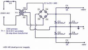 Simple 150w Amplifier Circuit Diagram