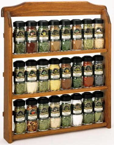 Herbs And Spices Rack by Spice Jars Homes And Garden Journal
