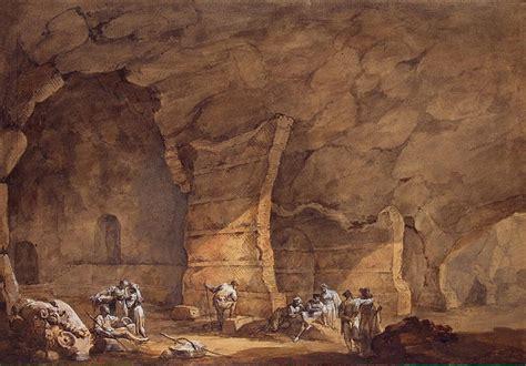 grotto  tiberius  capri charles louis clerisseau
