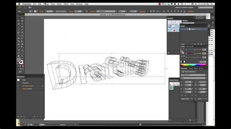 create  wireframe text  illustrator cc youtube