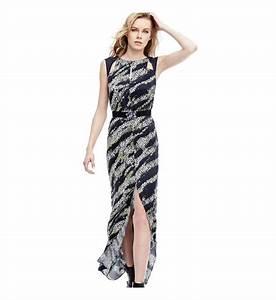 robe longue viscose guess multicolore femme galeries With affiche chambre bébé avec robe a fleur longue