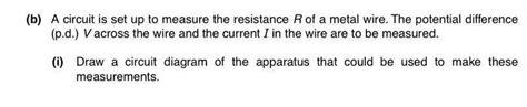 Draw Circuit Diagram Measure Resistance Wire