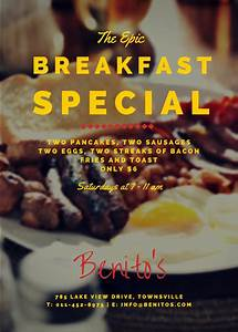 How To Make Promotional Flyers Tasty Breakfast Promotional Flyer Templates By Canva