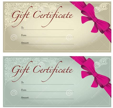 gorgeous gift certificate design template