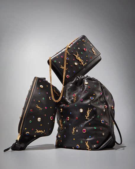 saint laurent kate monogram ysl medium jewel stud chain shoulder bag neiman marcus