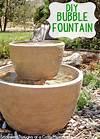 Easy DIY Bubble Fountain diy garden fountain