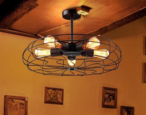 black chandelier ceiling fan modern metal black shade ceiling vintage retro fan