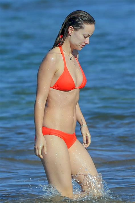 olivia wilde   bikini beach  hawaii