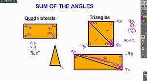 Sum of the Angles, Quadrilateral and Triangle - YouTube  Quadrilateral