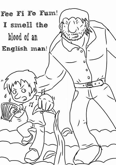 Beanstalk Jack Giant Colouring Activities Template