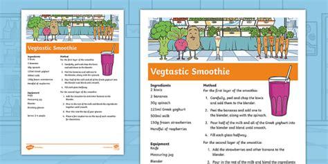 * New * Carrot Club Vegtastic Smoothie Recipe Originals