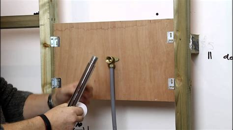 how to install a shower arm how to install a fixed shower