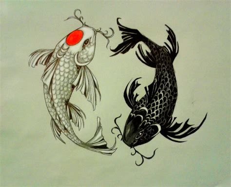 Tatouage Carpe Koi Dragon
