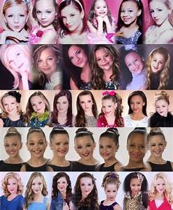 Dance Moms: Paige, Maddie, Brooke, Kendall, Mackenzie, Nia ...