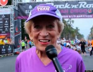 91-Year-Old Runner Becomes Oldest Woman To Run The San ...