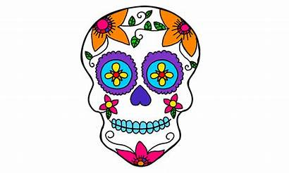 Skull Sugar Clipart Coloring Pages Printable Clipground