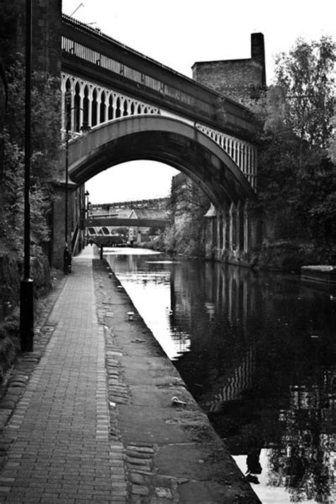 Canal - Manchester Black and White photography for sale.