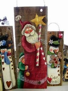 epingle par lateja sur merry christmas pinterest With bricolage peinture sur bois
