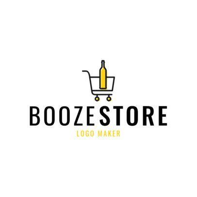 placeit elegant liquor store logo design template