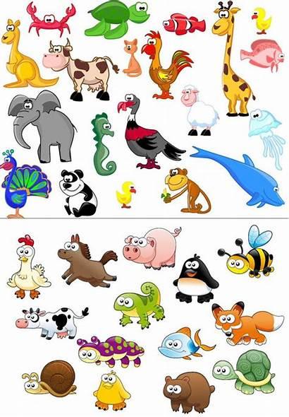 Animals Animal Clip Cartoon Safari Funny Vector