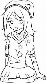 Anime Coloring Drawing Cool Pages Mcoloring Template Tomboy Fun Templates Getdrawings Stuff sketch template