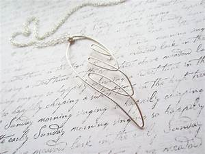 Silver Wire Necklace  Angel Necklace  Wing Necklace