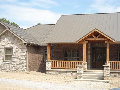metal roof houses metal roof standing seam provided by donahue roofing inc west plains