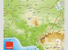 Physical Map of Nigeria