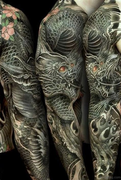 dragon tattoos  full sleeve