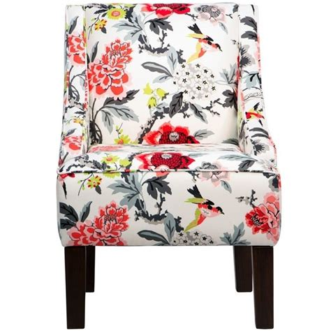 skyline upholstered swoop club arm chair in candid moment