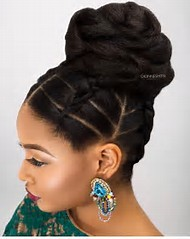 Best 25 ideas about natural updos find what youll love bun updo natural hair styles urmus Images