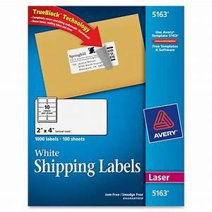 avery 5163 easy peel white shipping labels permanent With avery shipping labels 10 per page